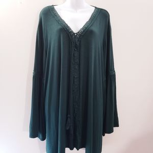 Suzanne Betro Weekend peasant tunic top 4X